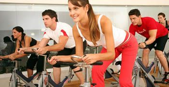 spin class fitness gym group